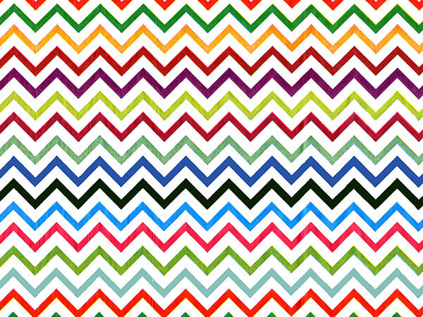 "Rainbow Chevron Recycled Tissue 240~20""x30"" Sheets Tissue Prints"