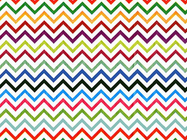 "Rainbow Chevron Tissue Paper, 20x30"", 12 Soft Fold Sheets"