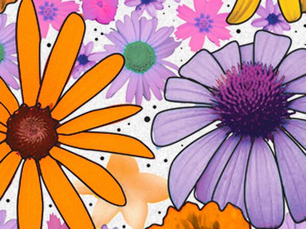 """Summer Garden Tissue Paper, 20x30"""", 12 Soft Fold Sheets"""