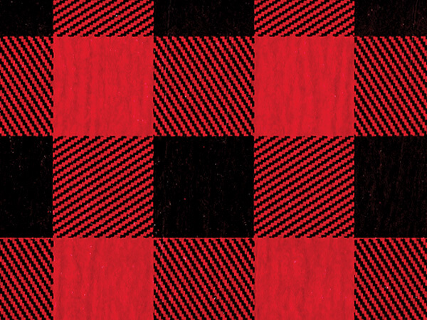 "Red Buffalo Plaid Tissue Paper, 20x30"", Bulk 120 Sheet Pack"