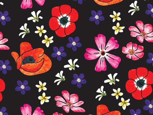 """Velvet Floral Tissue Paper, 20x30"""", Bulk 240 Sheet Pack"""