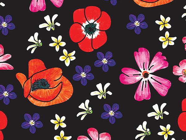 """*Velvet Floral Tissue Paper, 20x30"""", Bulk 120 Sheet Pack"""