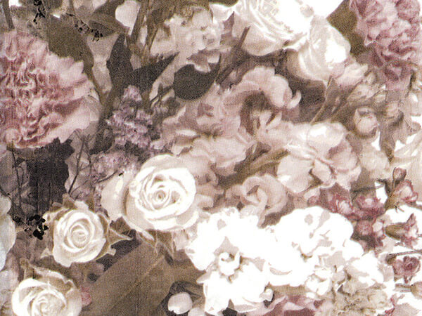 """Victorian Floral Tissue Paper, 20x30"""", 12 Soft Fold Sheets"""