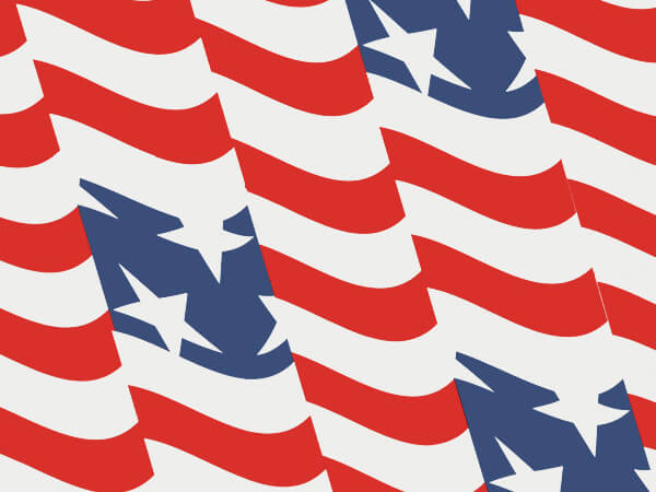 """Stars and Stripes Tissue Paper 120~20""""x30"""" Half Ream Recycled"""