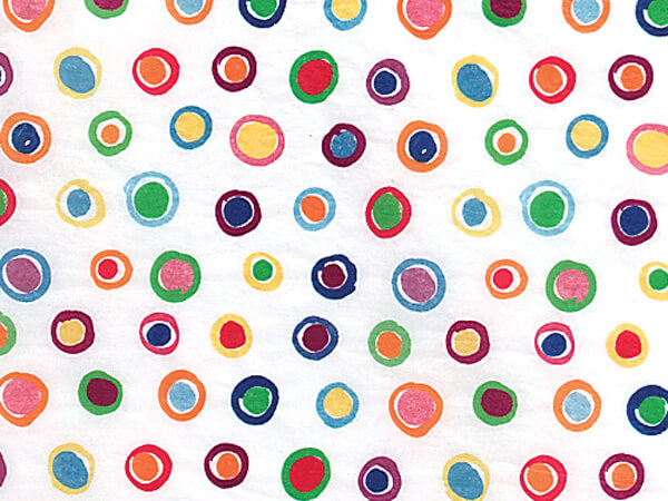 "Rainbow Spots Tissue Paper, 20x30"", Bulk 120 Sheet Pack"