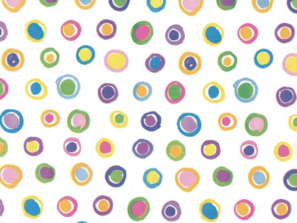 "Rainbow Spots Recycled Tissue Paper 120~20""x30"" Half Ream Tissue Print"