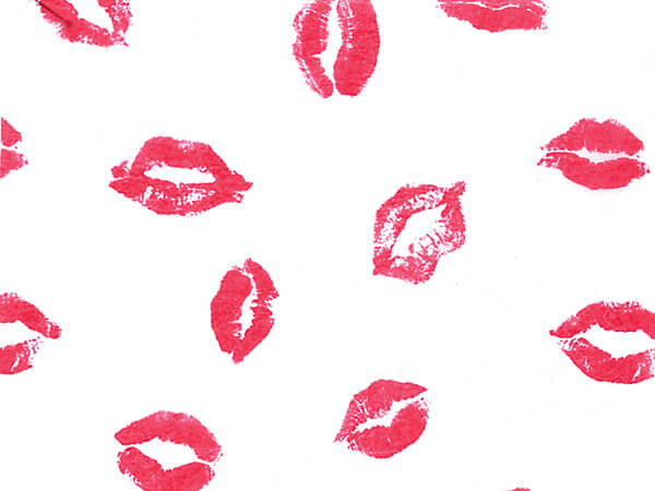 """Luscious Lips Tissue Paper, 20x30"""", 12 Soft Fold Sheets"""