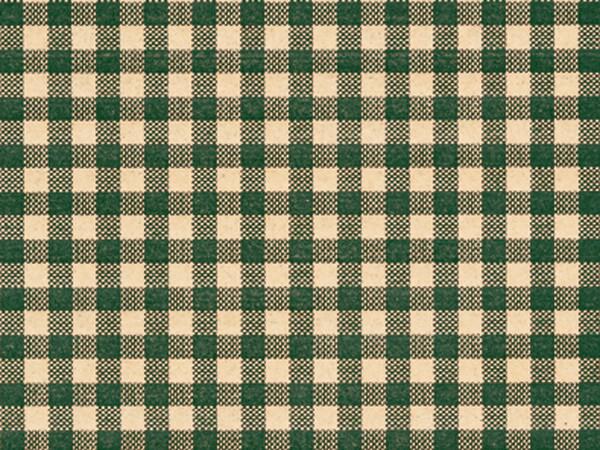 "*Hunter Gingham Kraft Tissue Paper, 20x30"", 12 Soft Fold Sheets"