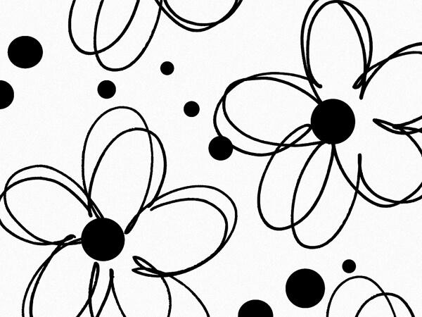 "Fun Flowers Tissue Paper, 20x30"", Bulk 240 Sheet Pack"