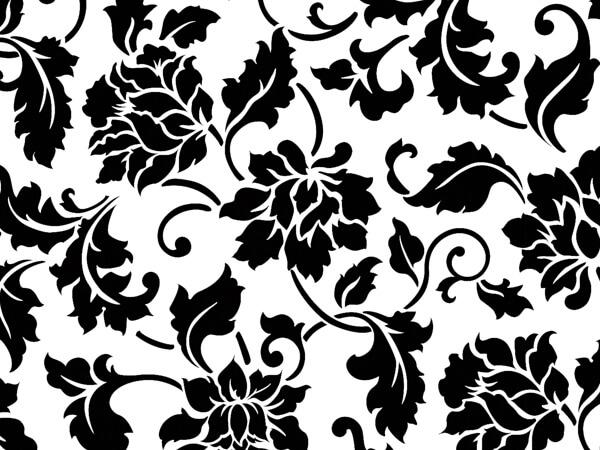 "Floral Brocade Tissue Paper, 20x30"", Bulk 120 Sheet Pack"