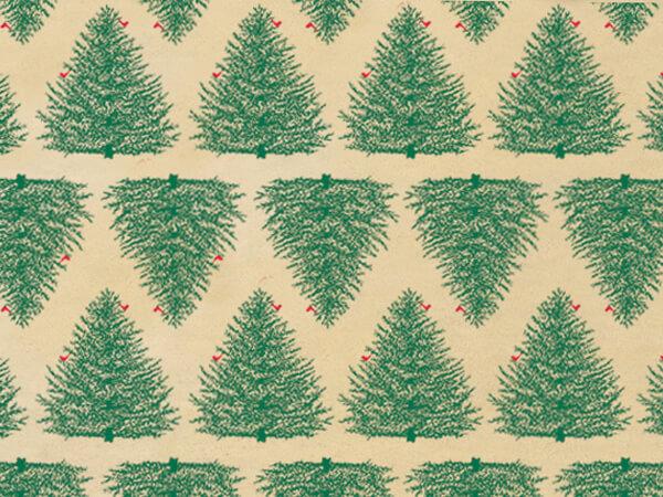 "Evergreen Kraft Tissue Paper, 20x30"", 12 Soft Fold Sheets"