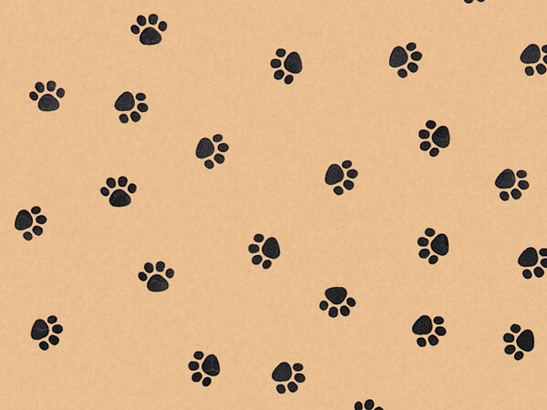 "Paw Print Kraft Tissue Paper, 20x30"", Bulk 120 Sheet Pack"