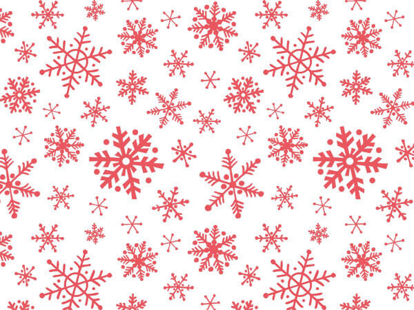 "Snowflake Flurry Christmas Tissue, 20x30"", Bulk 120 Sheet Pack"