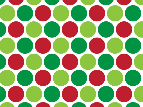 "Merry Dots Tissue Paper, 20x30"", Bulk 120 Sheet Pack"