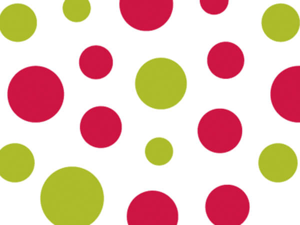 """Jolly Dots Tissue Paper, 20x30"""", 12 Soft Fold Sheets"""