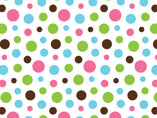 "*Trendy Dots Recycled Tissue 240~20""x30"" Sheets Tissue Prints"