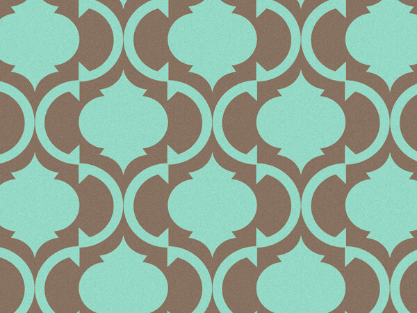 "*Tiles Aqua & Chocolate Recycled 240~20""x30"" Sheets Tissue Prints"