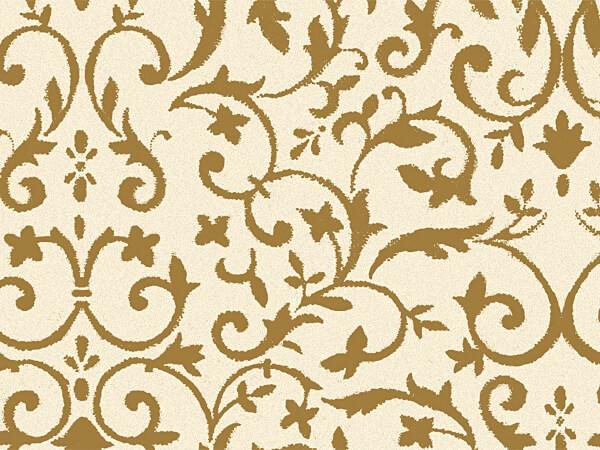 "Gold & Ivory Florentine Tissue, 20x30"", Bulk 120 Sheet Pack"