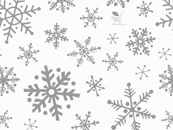 "Christmas Flurry Snowflakes Tissue, 20x30"", Bulk 120 Sheet Pack"