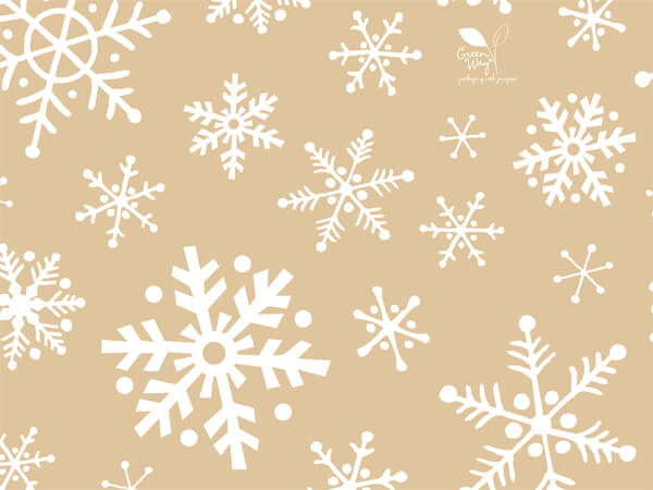 "Frosted Snowflakes (kraft) Recycled 240~20""x30"" Sheets Tissue Prints"