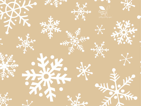 """Frosted Snowflakes Tissue Paper, 20x30"""", Bulk 120 Sheet Pack"""