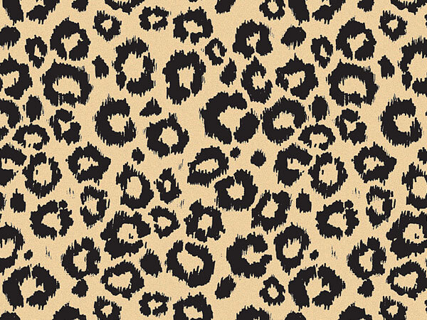 "Leopard Safari (kraft) Recycled 120~20""x30"" Half Ream Tissue Prints"