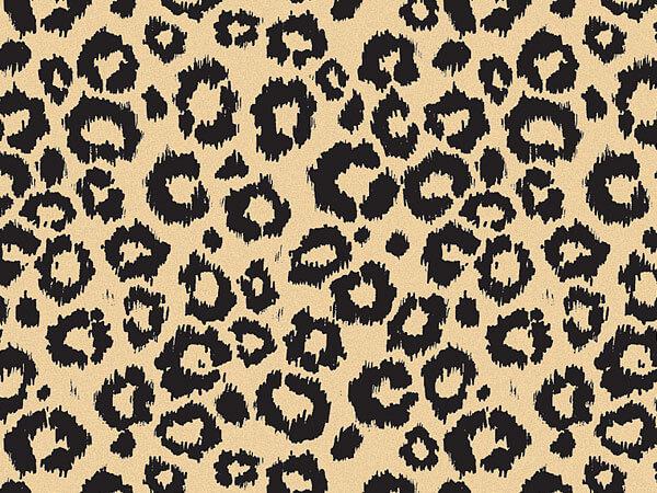 """Leopard Safari Kraft Tissue Paper, 20x30"""", 12 Soft Fold Sheets"""