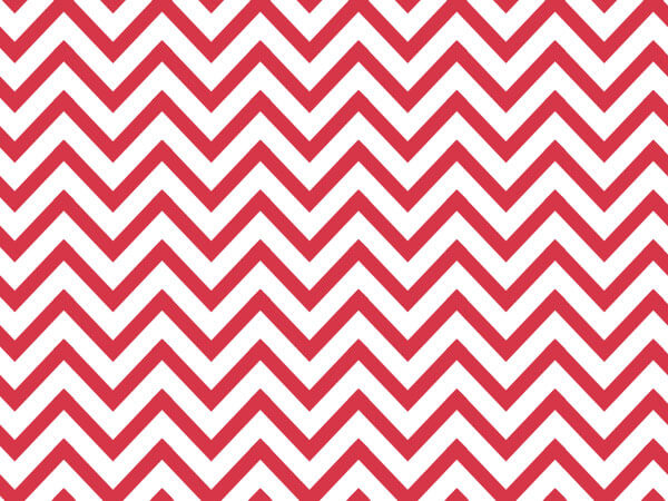 "*Red Chevron Stripes Tissue Paper 240~20""x30"" Sheets Recycled"