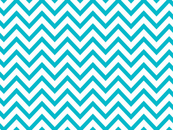 "*Turquoise Chevron Stripes Tissue 240~20""x30"" Sheets Recycled"