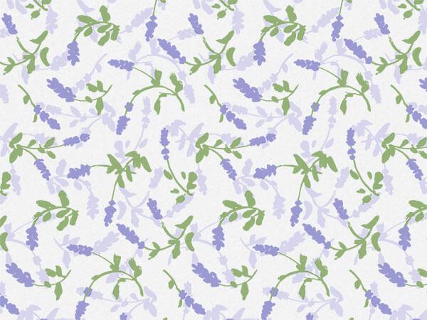 "Lavender Field Tissue 20x30"", 12 Soft Fold Sheets"