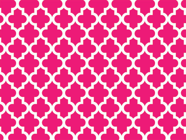 """*Hot Pink Tiles Geo Graphic Tissue 120~20""""x30"""" Half Ream Recycled"""
