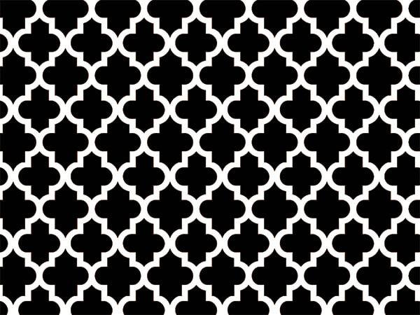 """Black Tiles Tissue Paper, 20x30"""", Bulk 120 Sheet Pack"""