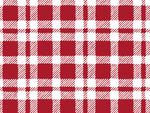 "*Red Plaid Tissue Paper, 20x30"", Bulk 120 Sheet Pack"