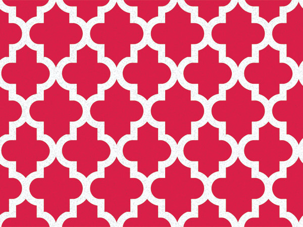 "*Red Tiles Geo Graphic Tissue Paper 120~20""x30"" Half Ream Recycled"