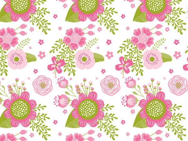"Chalkboard Flowers Tissue Paper, 20x30"", Bulk 120 Sheet Pack"