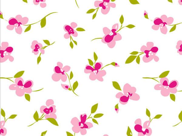 """Rose Blossoms Tissue Paper, 20x30"""", Bulk 120 Sheet Pack"""