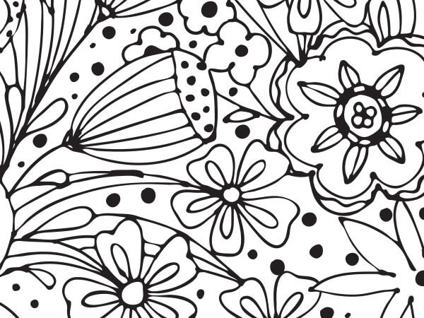 "Doodle Garden Tissue Paper 120~20""x30"" Half Ream Recycled"