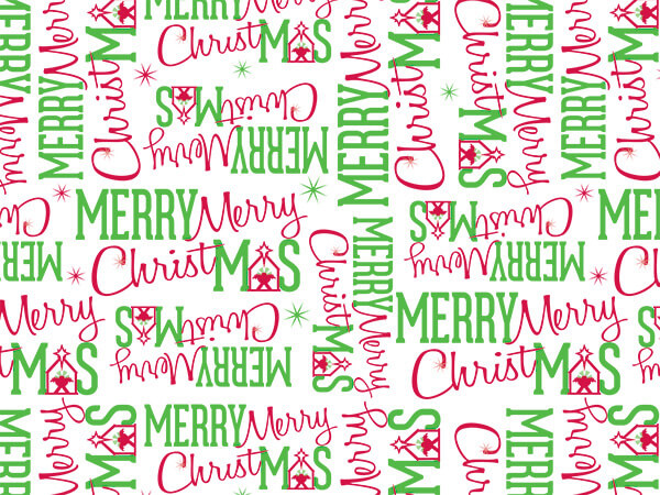 "Merry Christmas Manger Tissue, 20x30"", Bulk 120 Sheet Pack"