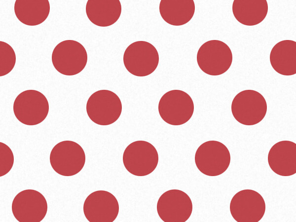 "Scarlet Red Polka Dot Tissue Paper, 20x30"", Bulk 120 Sheet Pack"