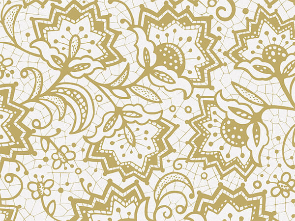 "Lace Borders Tissue Paper, 20x30"", Bulk 120 Sheet Pack"