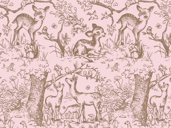 "Pink Lullaby Meadow Tissue Paper, 20x30"", Bulk 240 Sheet Pack"