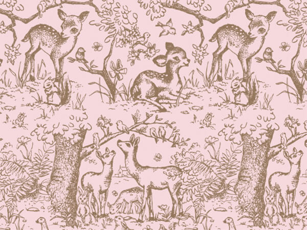"""Pink Lullaby Meadow Tissue Paper, 20x30"""", 12 Soft Fold Sheets"""