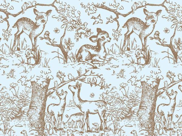 "Blue Lullaby Meadow Tissue Paper, 20x30"", Bulk 240 Sheet Pack"