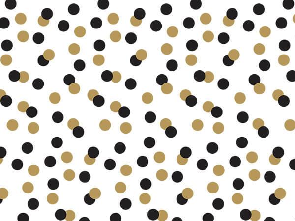 """Golden Holiday Dots Tissue Paper, 20x30"""", Bulk 120 Sheet Pack"""