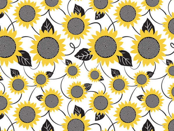 Sunflower Fields Tissue Paper