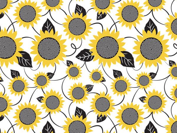 "Sunflower Fields Tissue Paper, 20x30"", 12 Soft Fold Sheets"