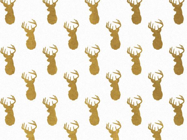 Golden Deer Tissue Paper