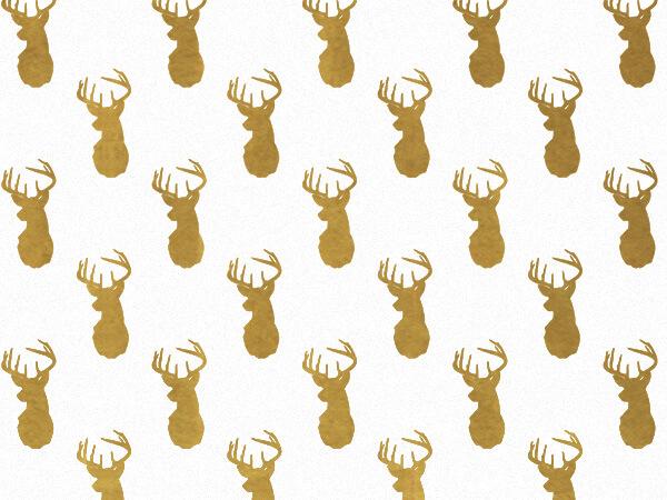 """Golden Deer Tissue Paper, 20x30"""", 12 Soft Fold Sheets"""