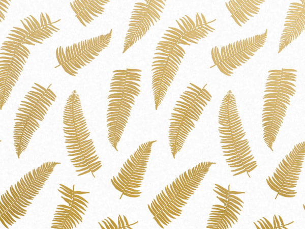 Golden Frond Tissue Paper