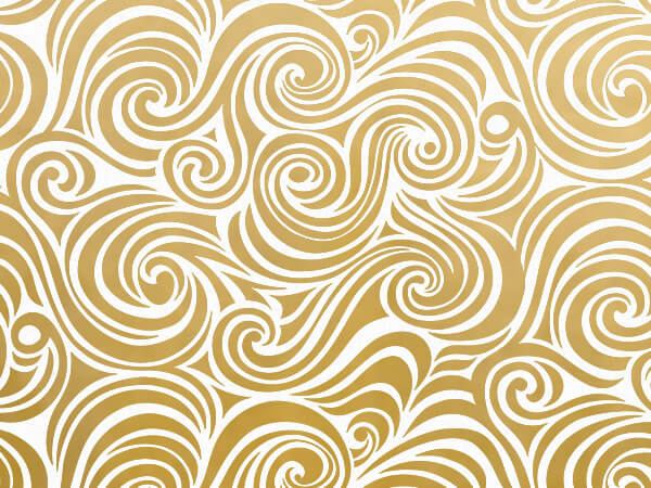 Golden Swirls Tissue Paper